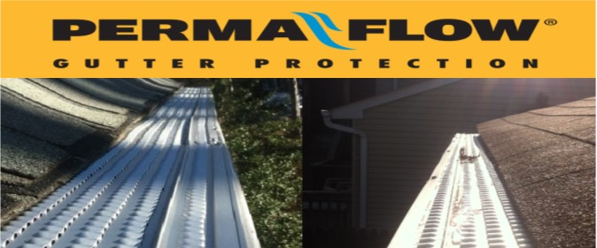 Permaflow gutter guards installations in Montgomery County Maryland.