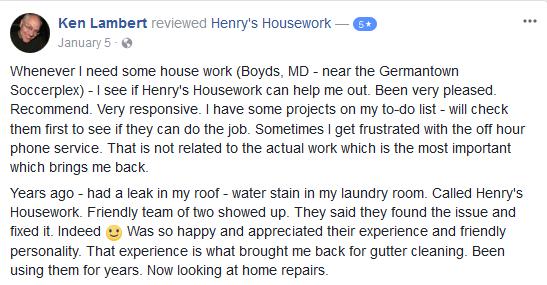 Henry's Housework - Reviews-facebook